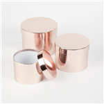 Conjunto Flower Box 3Un. Rose Gold