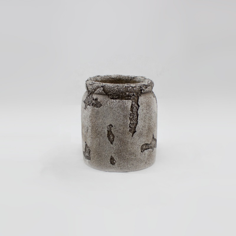 Pote Cerâmica Antique Grey  - 20 cm